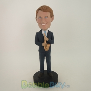 Picture of Saxaphone Player Male Bobblehead