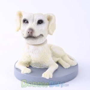 Picture of White Pet Dog Bobblehead